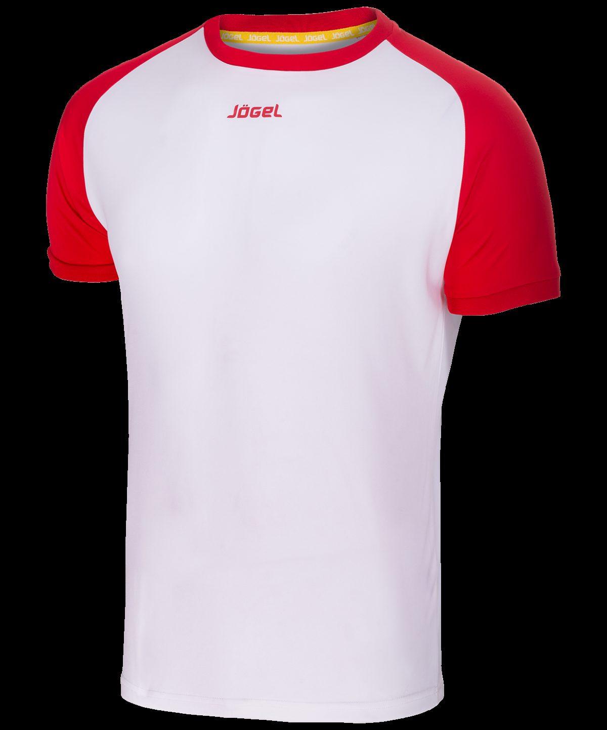 JOGEL Футболка футбольная, белый/красный   JFT-1011-012 - 2