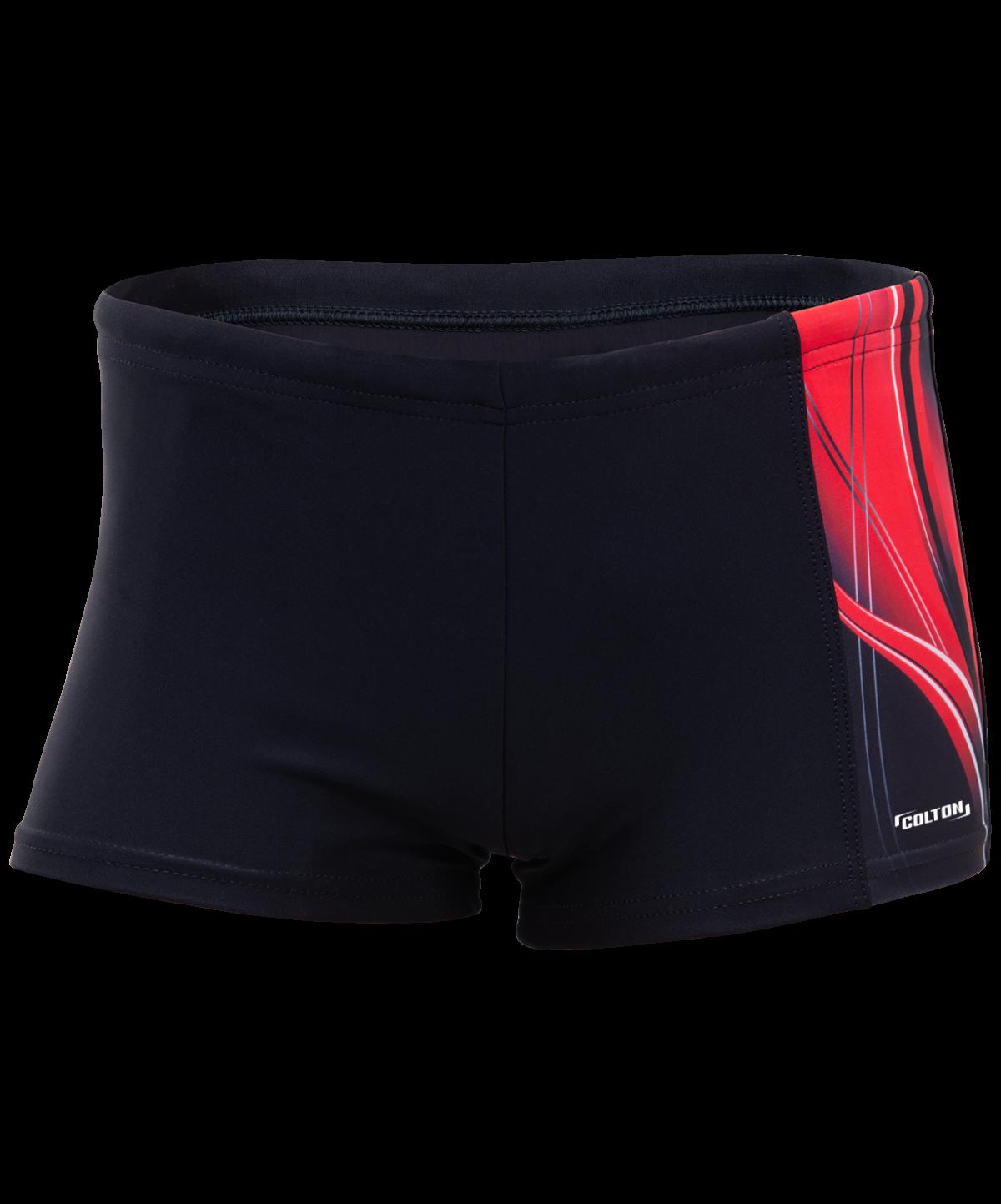 COLTON Wave Плавки-шорты детские (32-42)  SS-2985: черный/красный - 1