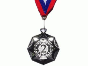 """Медаль """"Звезда""""  E04: серебро - 3"""