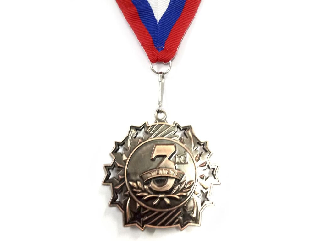 """Медаль с лентой """"Россия""""   1803: бронза - 1"""