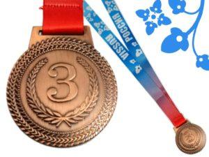 Медаль наградная с лентой   МТ851: бронза - 2