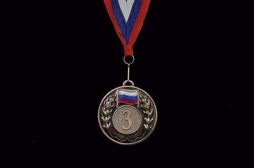 Медаль наградная с лентой  5201-12 - 1