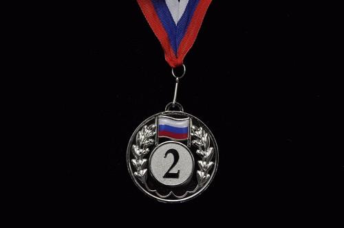 Медаль наградная с лентой  5201-11 - 1