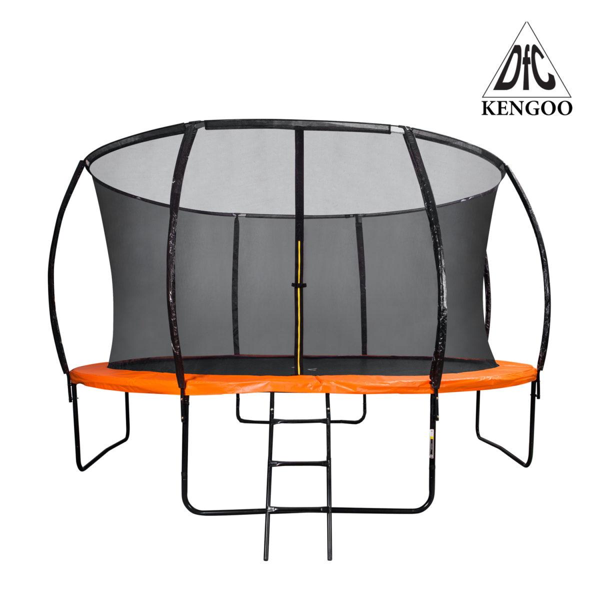 DFC Батут Trampoline Kengoo 12фут. (366см) с защитной сеткой, с лестницей - 1