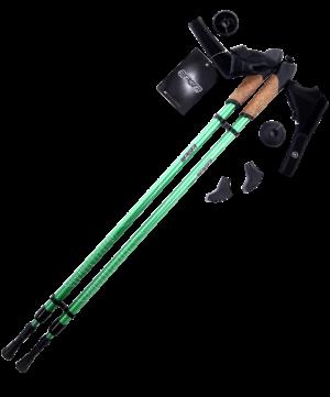 BERGER Rainbow Палки для скандинавской ходьбы 2-х секционные, 86-140см.: зелёный - 9