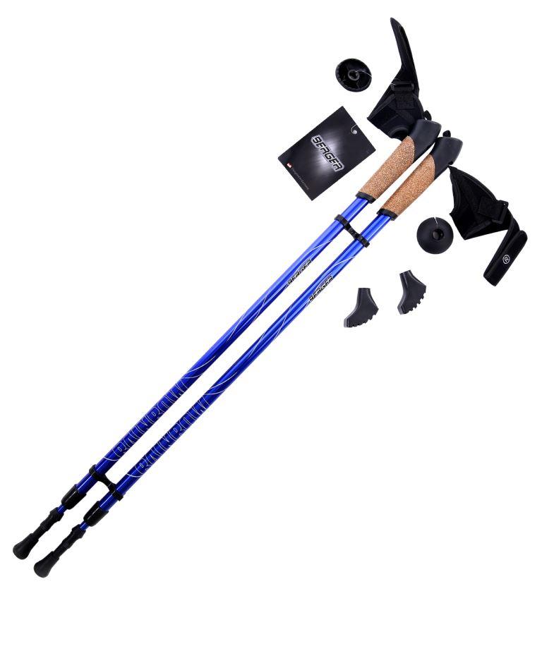 BERGER Rainbow Палки для скандинавской ходьбы 2-х секционные, 86-140см.: синий - 1