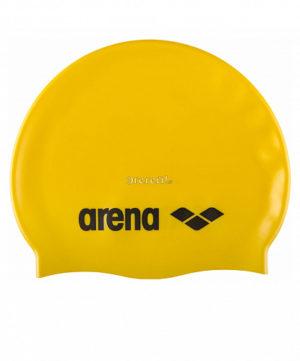 ARENA Шапочка д/плав. Classic Silicone JR Yellow/Black  91670 35 - 8