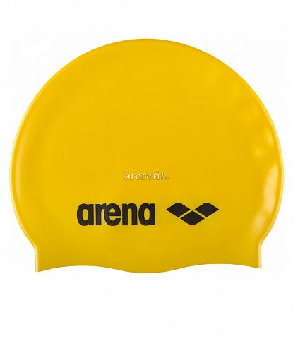 ARENA Шапочка д/плав. Classic Silicone JR Yellow/Black  91670 35 - 1