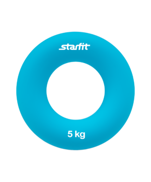 "STARFIT Эспандер кистевой ""Кольцо"" 7 см. 5 кг. голубой ES-403 - 9"