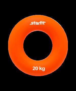 """STARFIT Эспандер кистевой """"Кольцо"""" 8,8 см. 20 кг. оранжевый ES-404 - 10"""