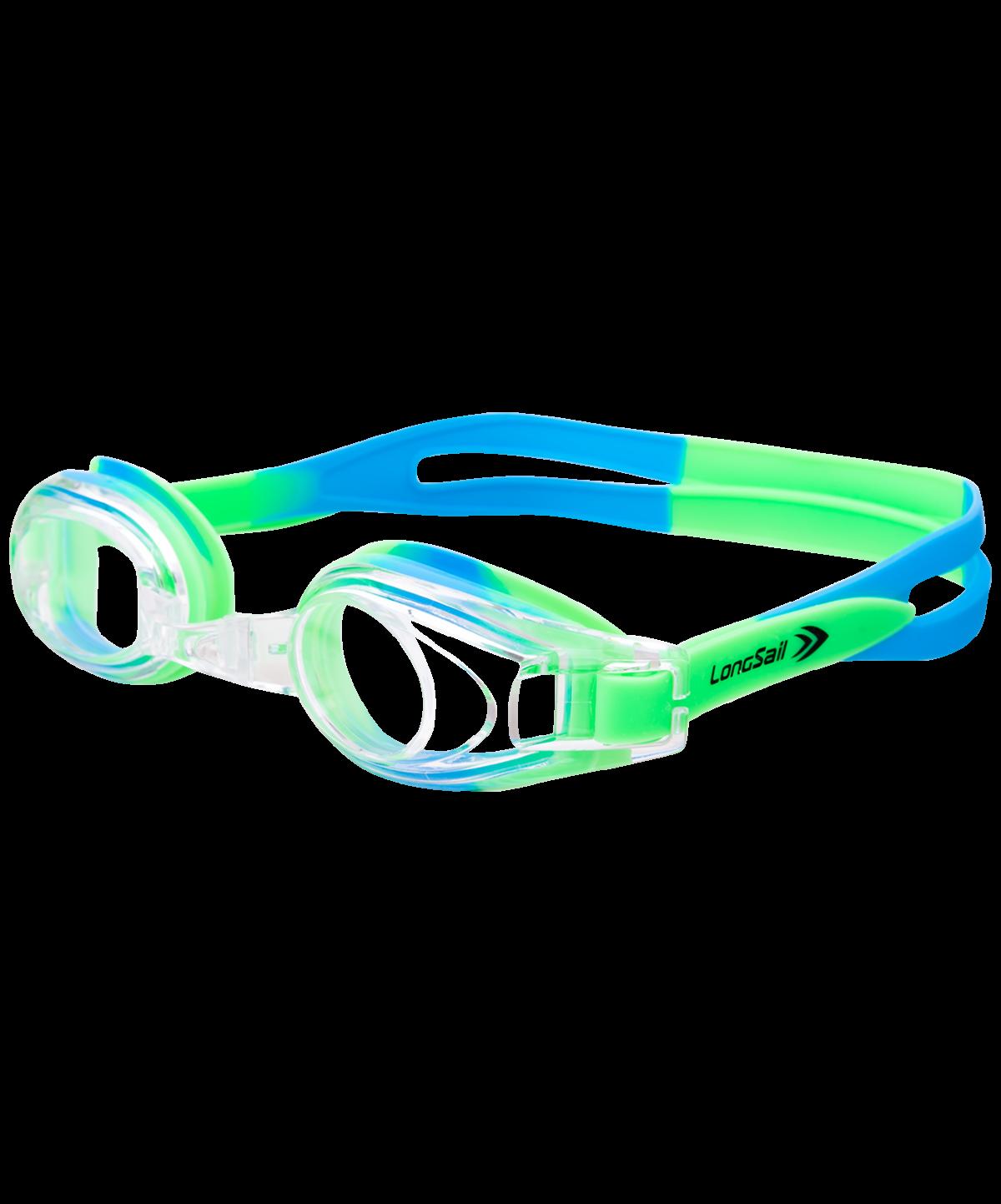 LONGSAIL Kids Pure Очки для плавания  L041848: зеленый/синий - 1