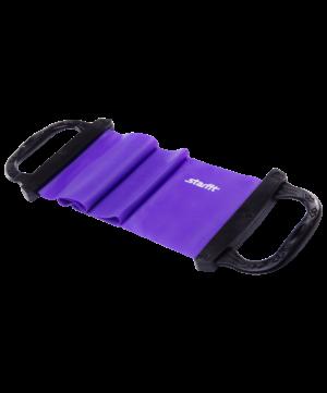 STARFIT Эспандер ленточный жесткая ручка  8 кг. ES-202 : фиолетовый - 16