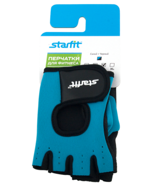 STARFIT Перчатки для фитнеса SU-107  : синий/черный - 11