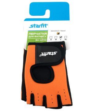 STARFIT Перчатки для фитнеса SU-107 : оранжевый/чёрный - 12