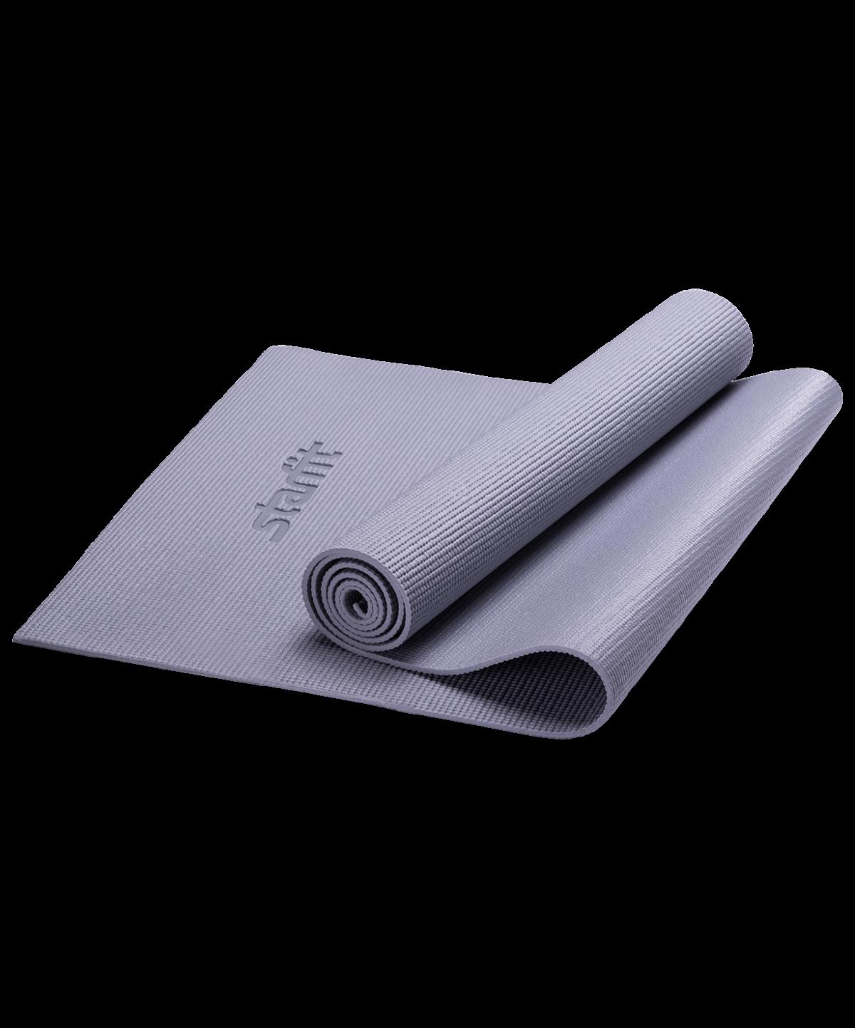 STARFIT Коврик для йоги FM-101 173х61х1,0см: серый - 1