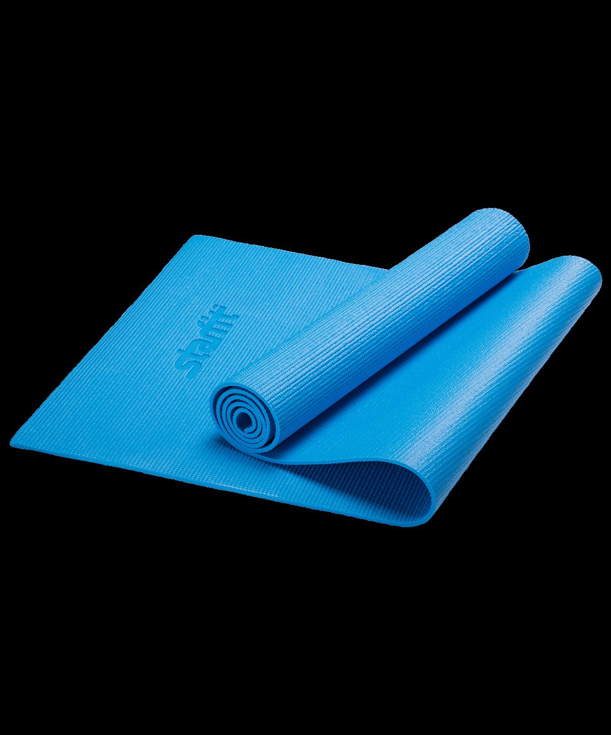 STARFIT Коврик для йоги FM-101 173х61х1,0см: синий - 1