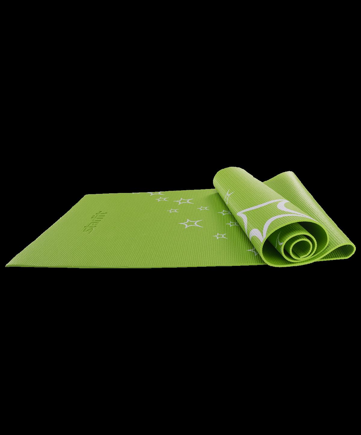 STARFIT Коврик для йоги FM-102 173х61х0,4см: зелёный - 1