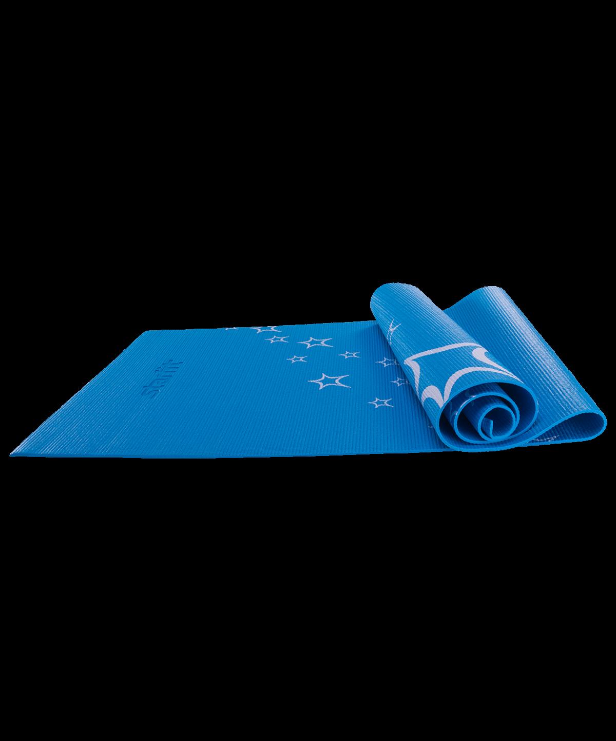 STARFIT Коврик для йоги FM-102 173х61х0,4см: синий - 1