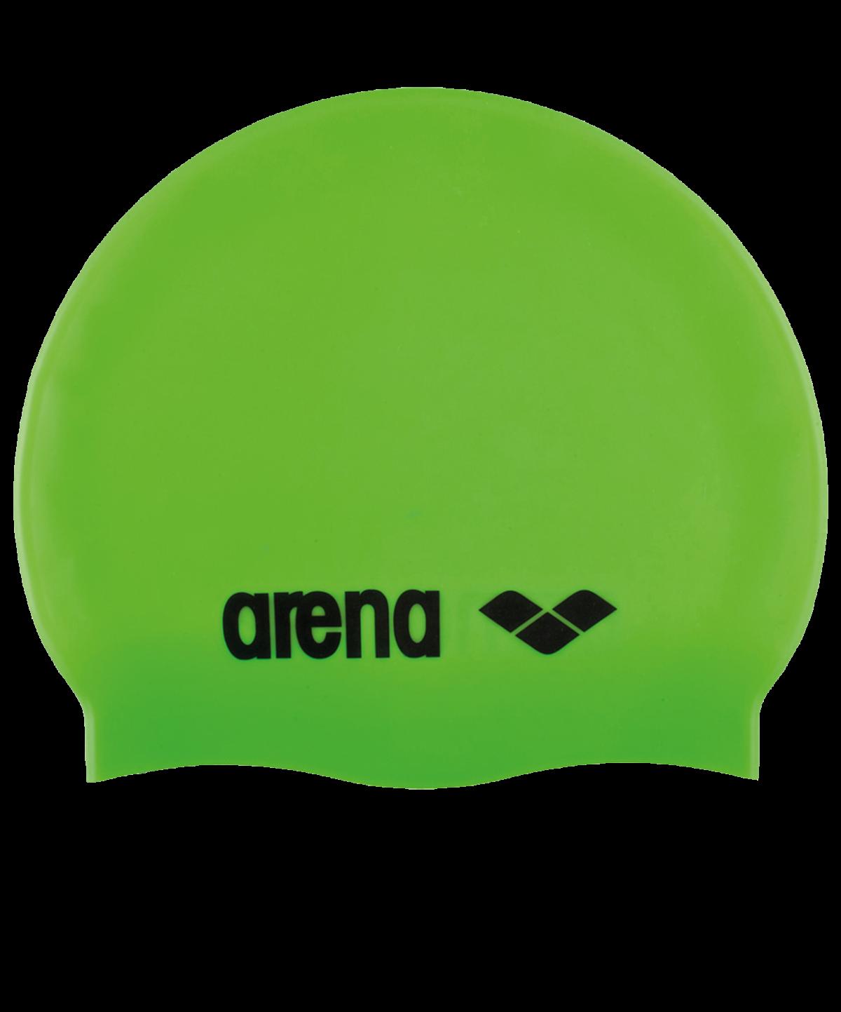ARENA Шапочка для плавания Classic Silicone JR Acid lime/Black  91670 65 - 1