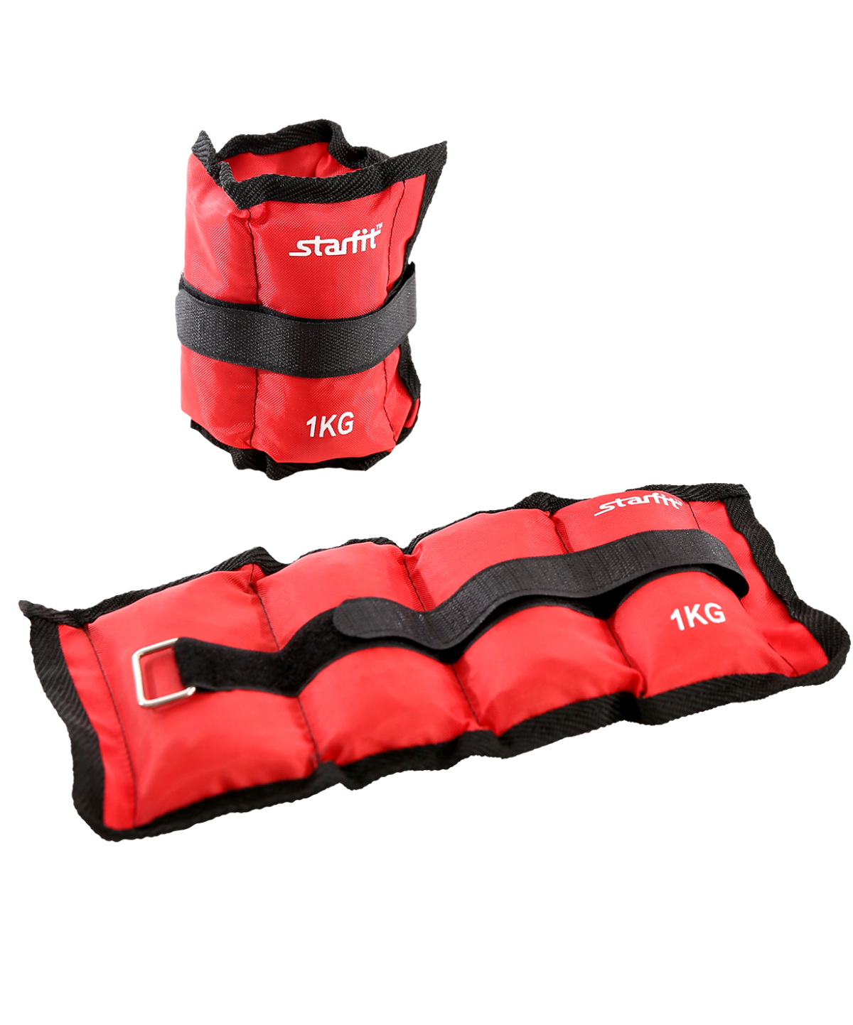 STARFIT Утяжелители  1 кг, красный WT-401 - 1