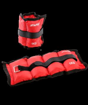 STARFIT Утяжелители  1 кг, красный WT-401 - 4