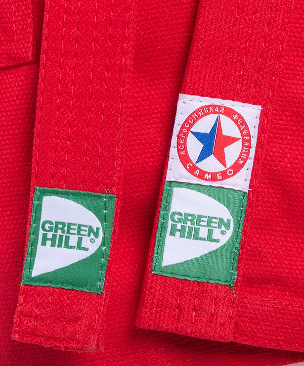 GREEN HILL Куртка для самбо 2/150  JS-302: красный - 3