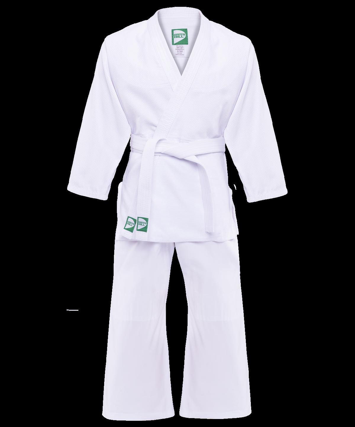 GREEN HILL Кимоно дзюдо 1/140  MA-301: белый - 1
