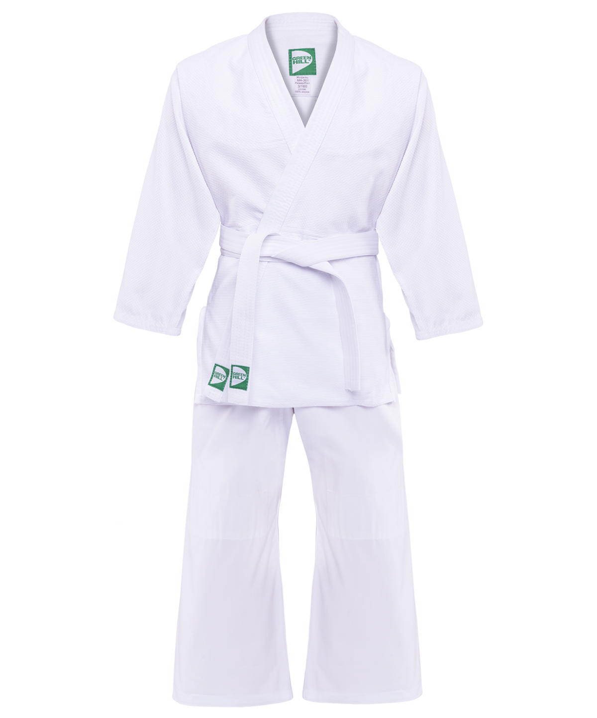 GREEN HILL Кимоно дзюдо 2/150  MA-302: белый - 1