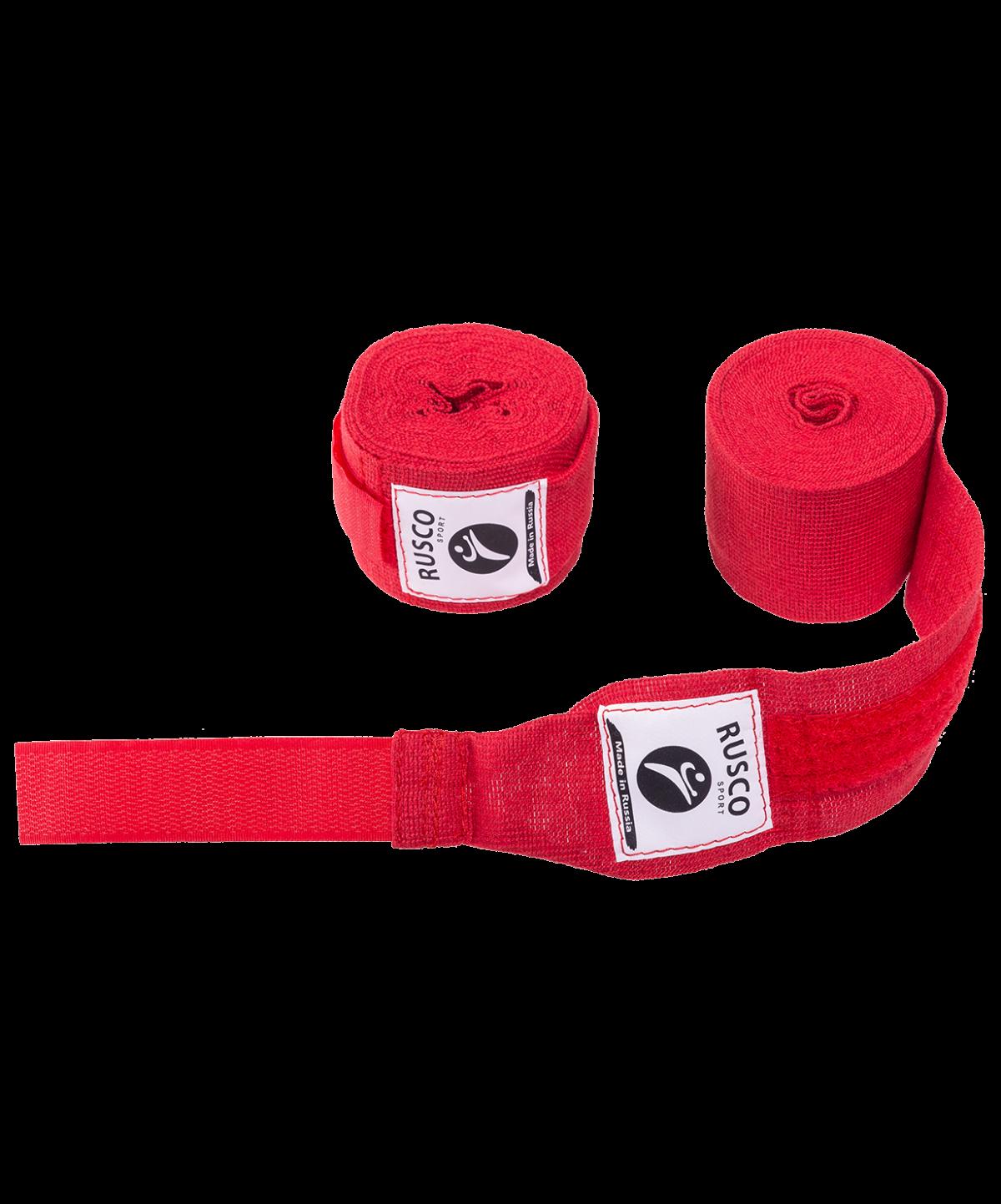 RUSCO Бинт боксерский, 2,5м, хлопок  126: красный - 1
