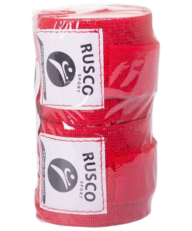 RUSCO Бинт боксерский, 2,5м, хлопок  126: красный - 2