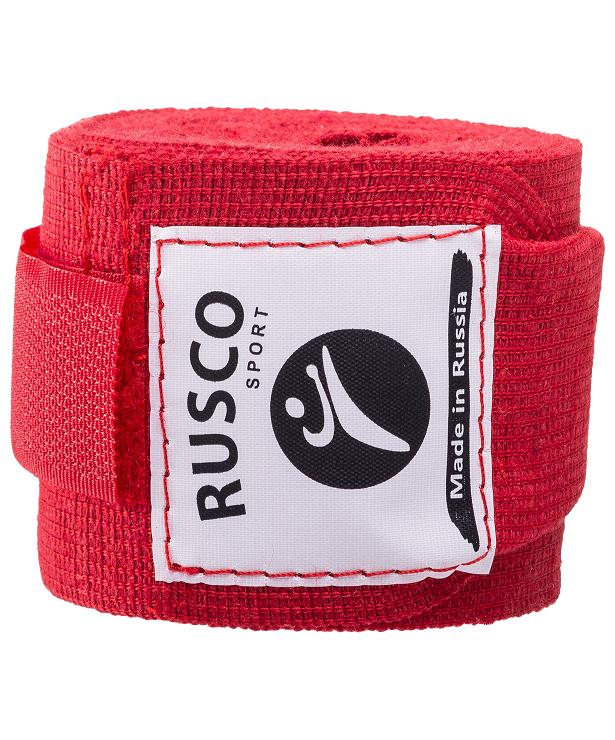 RUSCO Бинт боксерский, 3,5м, хлопок  126: красный - 3