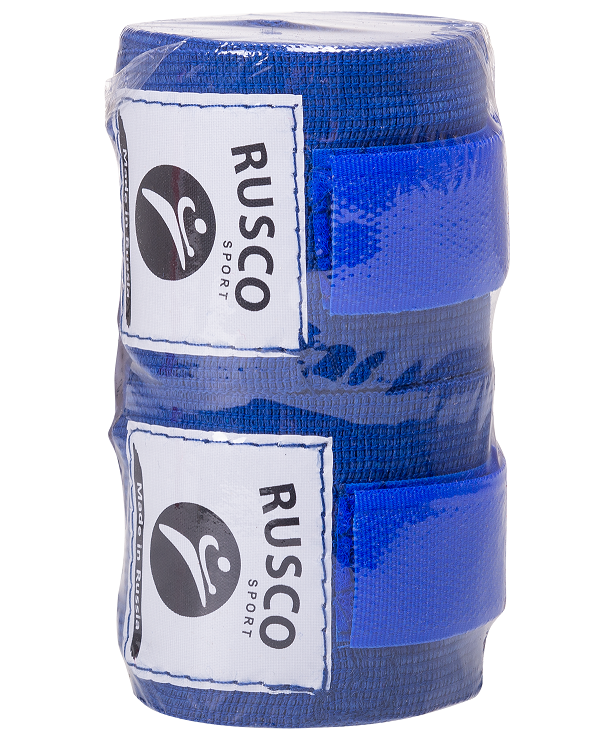 RUSCO Бинт боксерский, 3,5м, хлопок  126: синий - 2