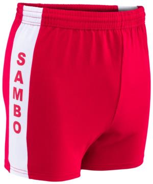Шорты для самбо, размер 34-42  9109: красный - 19