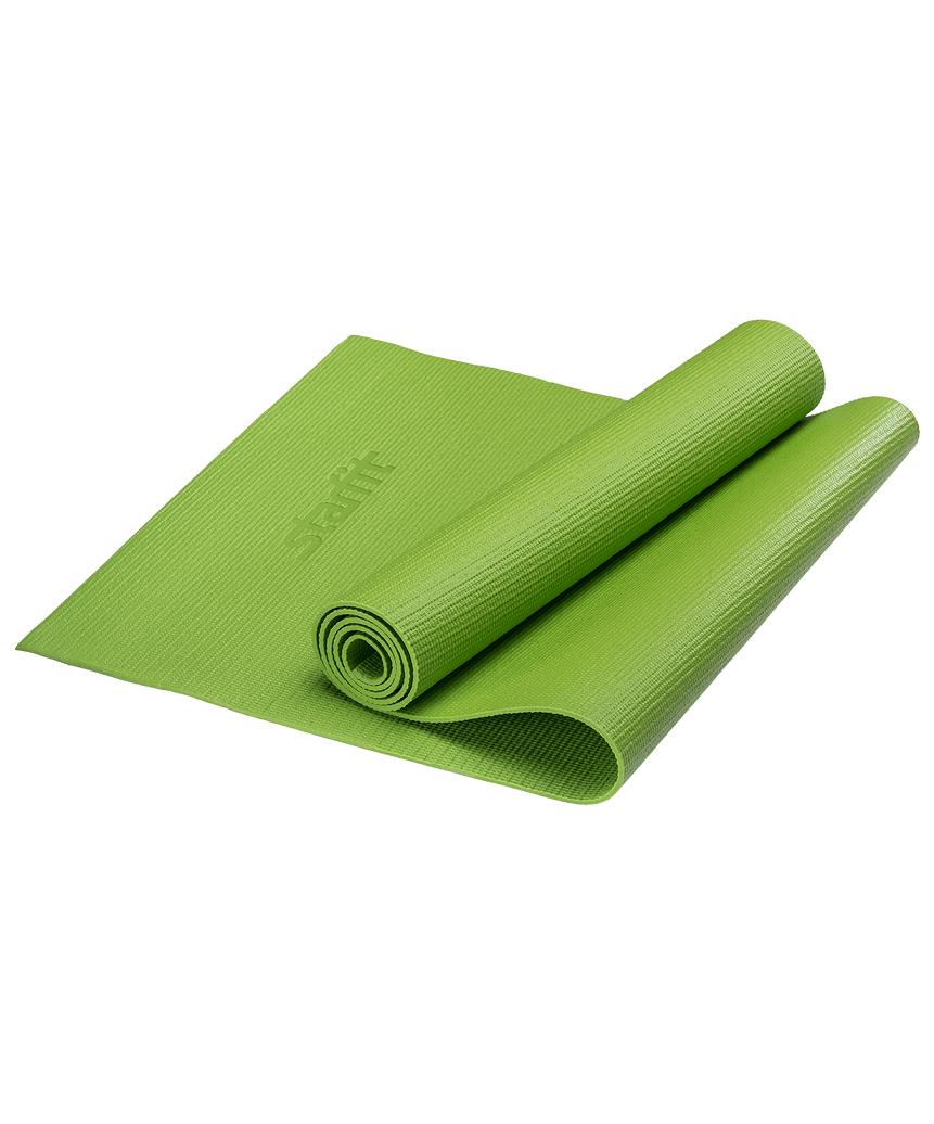 STARFIT Коврик для йоги FM-101 173х61х0,4см: зелёный - 1