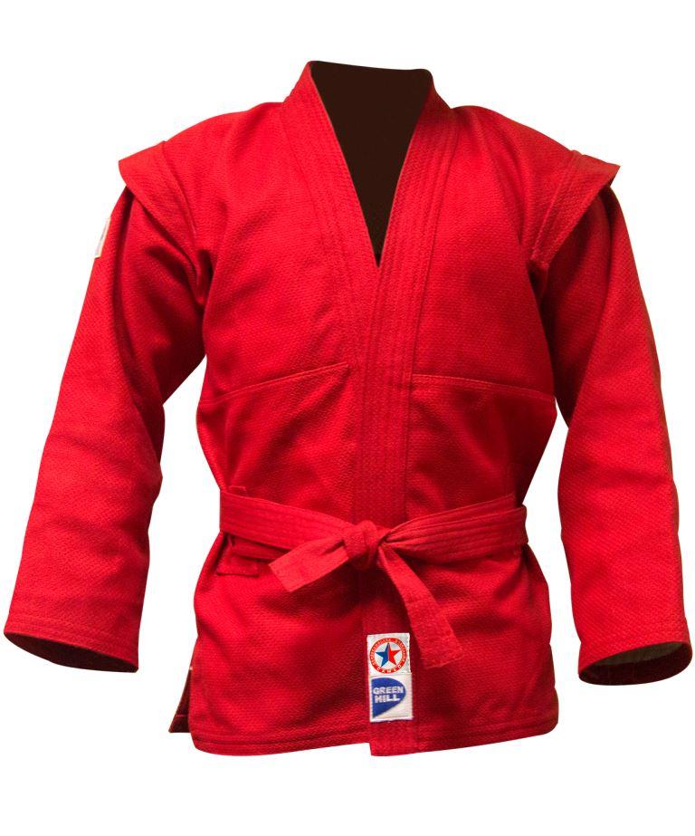 GREEN HILL Куртка для самбо  JS-303: красный - 1