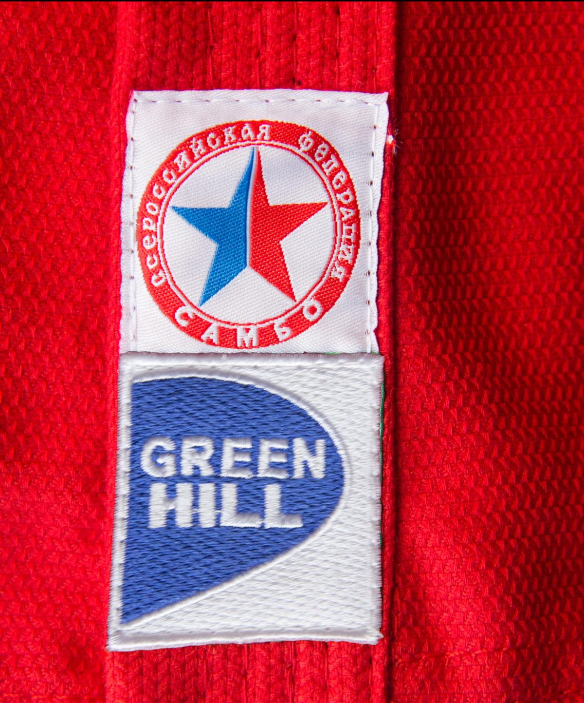 GREEN HILL Куртка для самбо  JS-303: красный - 2