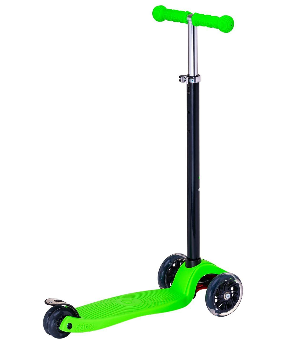 RIDEX Snappy 3D Самокат 3-х колесный 120/80 мм  Snappy: зелёный - 2