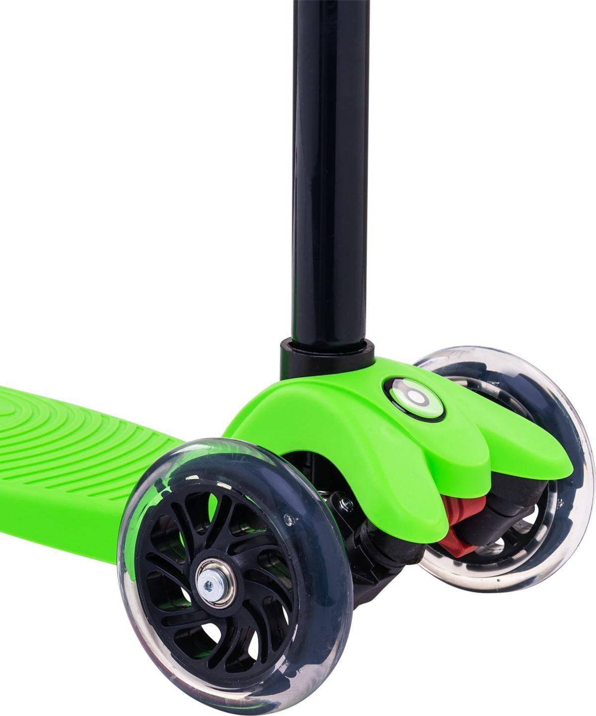 RIDEX Snappy 3D Самокат 3-х колесный 120/80 мм  Snappy: зелёный - 3