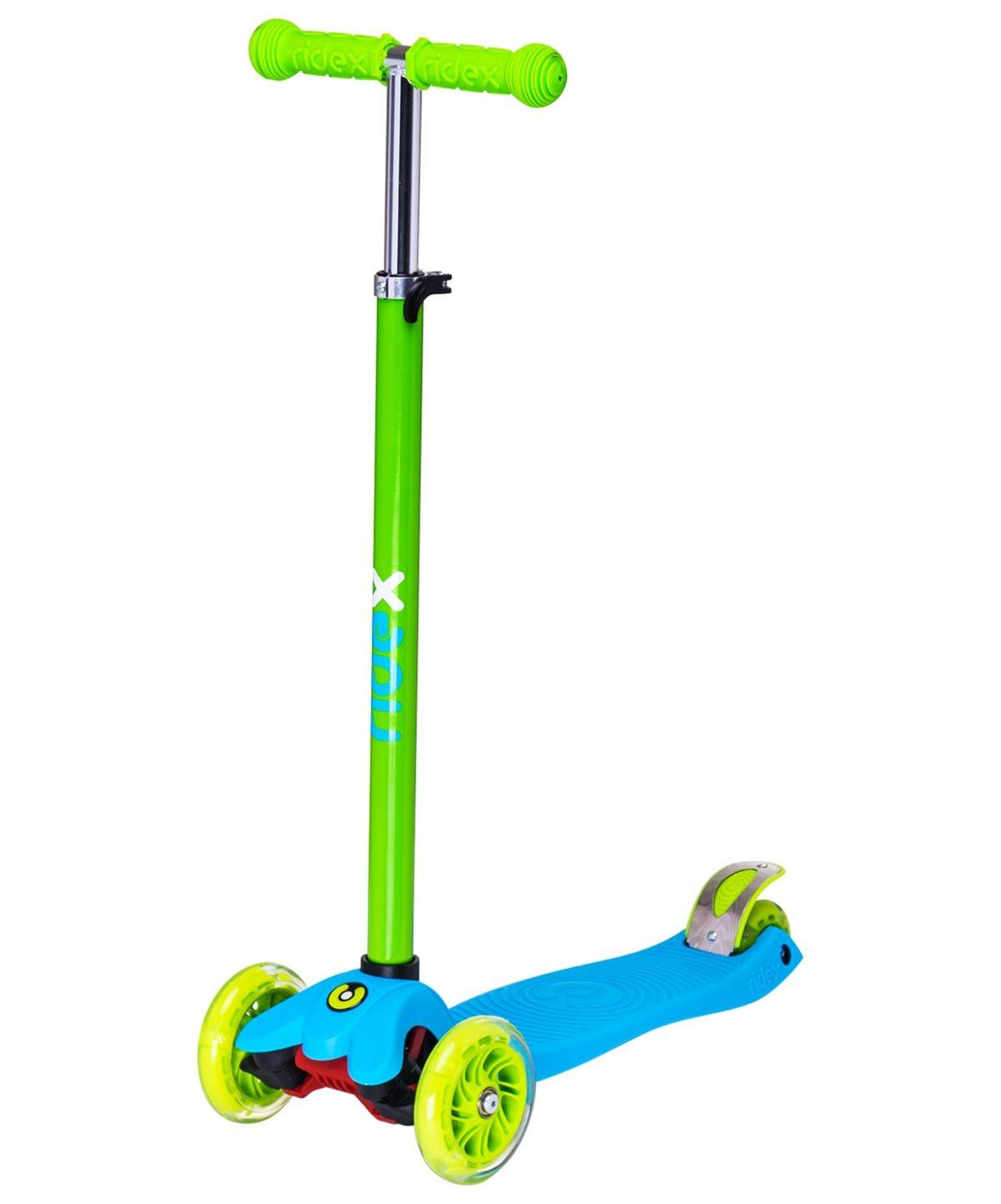 RIDEX Snappy 3D Самокат 3-х колесный 120/80 мм  Snappy: синий/зелёный - 1