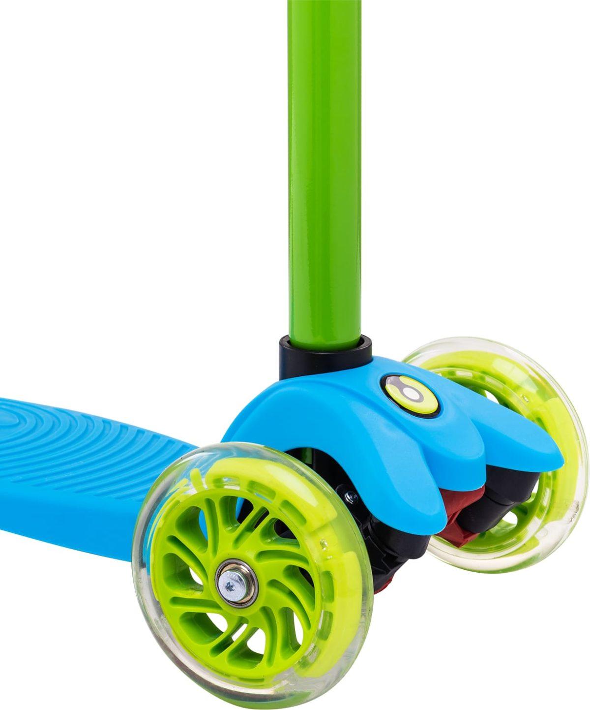 RIDEX Snappy 3D Самокат 3-х колесный 120/80 мм  Snappy: синий/зелёный - 3