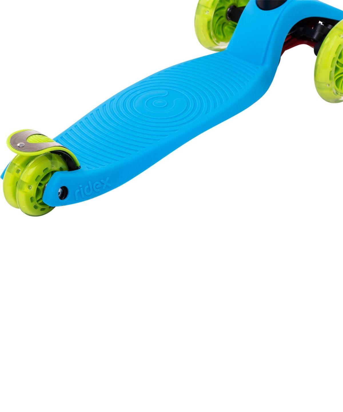 RIDEX Snappy 3D Самокат 3-х колесный 120/80 мм  Snappy: синий/зелёный - 4