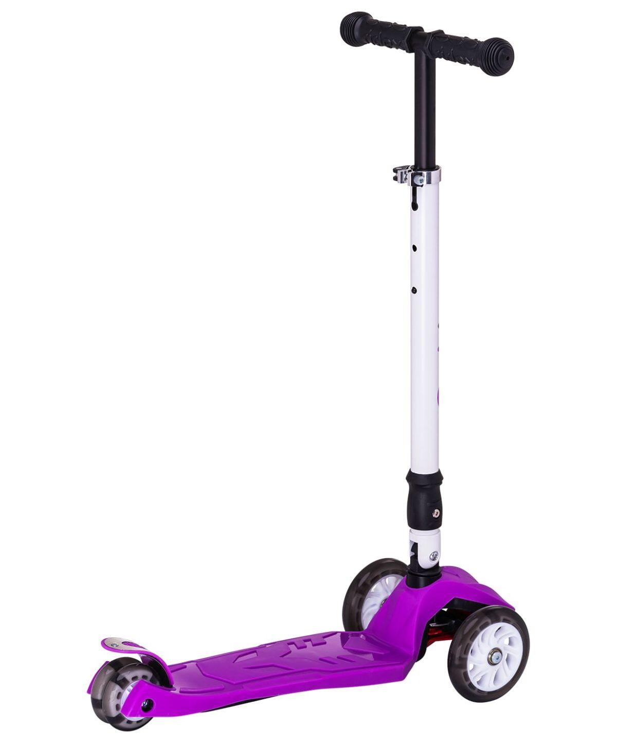 RIDEX Smart 3D Самокат 3-х колесный 120/80 мм  Smart: фиолетовый - 1