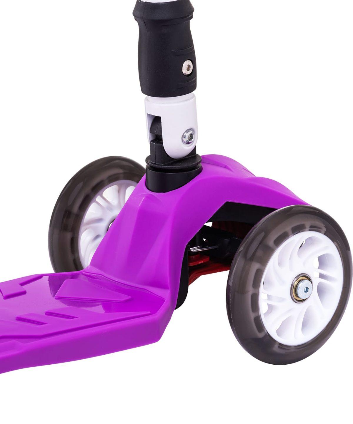 RIDEX Smart 3D Самокат 3-х колесный 120/80 мм  Smart: фиолетовый - 3