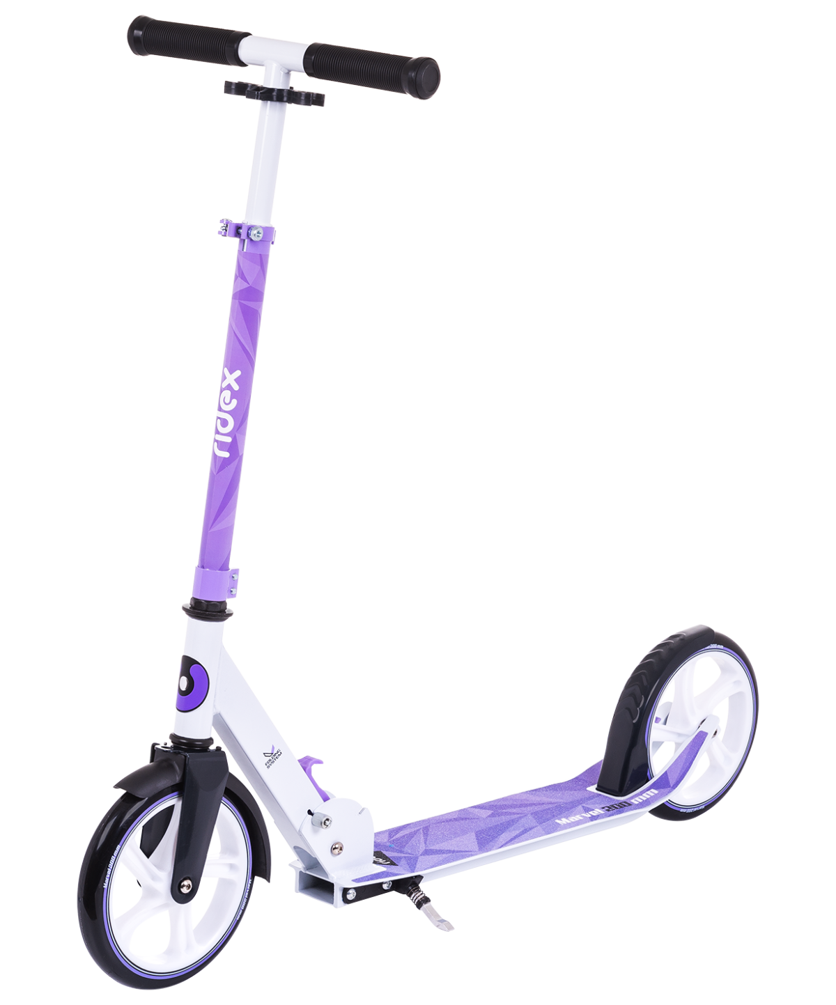 RIDEX Marvel самокат 2-х колесныйи 200 мм: фиолетовый/белый - 1