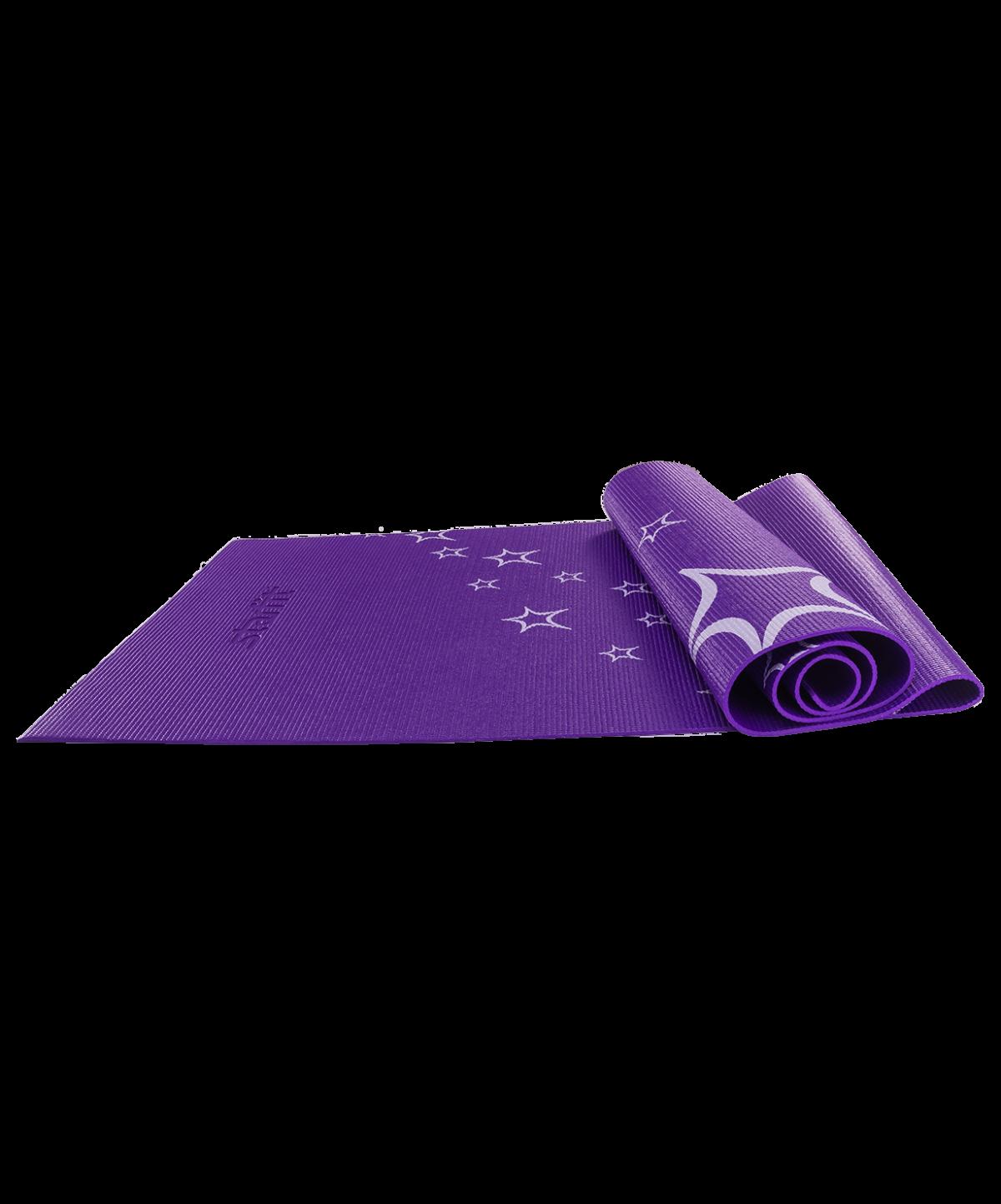 STARFIT Коврик для йоги с рисунком FM-102 173х61х0,5см: фиолетовый - 1