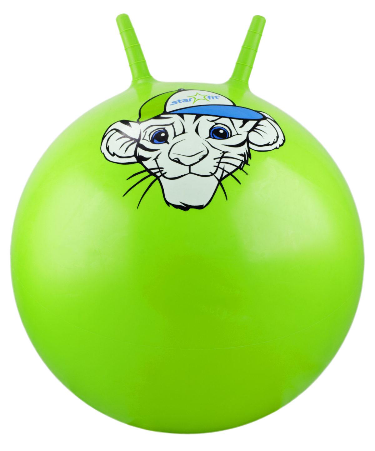 """STARFIT Мяч попрыгун """"Тигрёнок""""  55см GB-402 тигренок: зелёный - 1"""