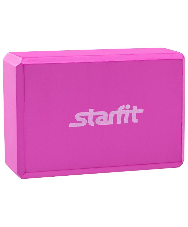 STARFIT Блок для йоги EVA FA-101: розовый - 1