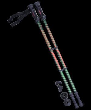 BERGER Longway Палки для скандинавской ходьбы зеленый/оранжевый, 77-135 см - 2