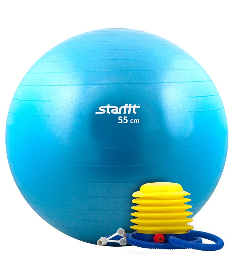STARFIT Мяч гимнастический с насосом  75см GB-102 - 1