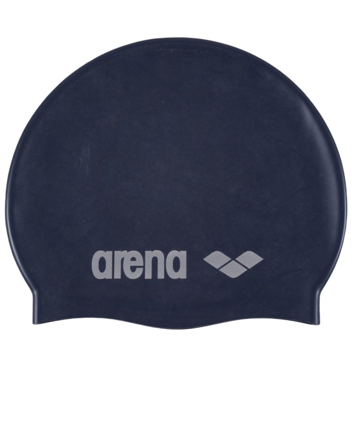 ARENA Шапочка для плавания Classic Silicone JR Denim/Silver  91670 71 - 1